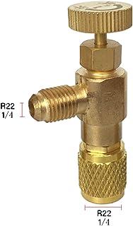 BIlinli Adaptador de Carga de refrigeración R22 / R410 Conector Accesorios de adición de líquido Herramienta de válvula de Aire Acondicionado para el hogar