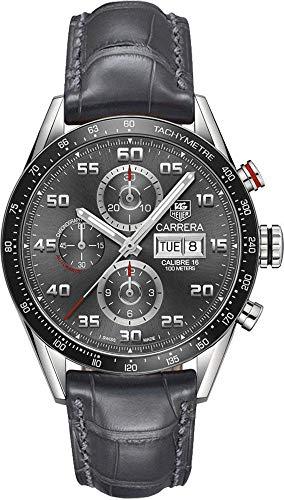 Tag Heuer Carrera CV2A1U.FC6313 - Reloj de Pulsera para Hombre (Esfera cepillada, Antracita, 43 mm)