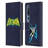 Head Case Designs Licenciado Oficialmente Batman DC Comics Clásica angustiada Logotipos Carcasa de Cuero Tipo Libro Compatible con Xiaomi Mi 10 5G / Mi 10 Pro 5G