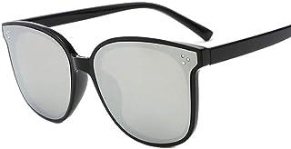 QPRER - Gafas De Sol,Plateado Cómodo Clásico Niña IR De Compras Calle Gafas De Sol Verano Niños Diario Al Aire Libre Gafas Niño Seaside Party UV Cumpleaños Regalo del Día del Niño