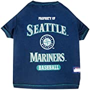 Pets First premier Manufacturer of innovative oat clothing and accessories Dog tee Shirt features the baseball team logo. Tee Shirt is made of 100% cotton and is machine washable. Manufactured in China