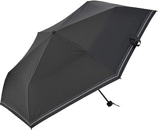 Nifty Colors(ニフティカラーズ) 折りたたみ傘 遮光セーラーボーダーミニ60 ブラック