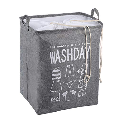 Aufbewahrungsbox aus Stoff, Faltbarer, dickwandiger Aufbewahrungskorb aus Leinen mit Seilgriffen für Spielzeug, Kleidung Organizer, Buch Lagerung, Speiche