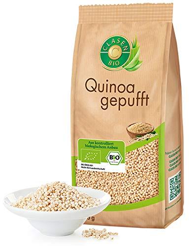 CLASEN BIO Quinoa, gepufft - 125g, von Natur aus vegan und glutenfrei, biologischer Anbau