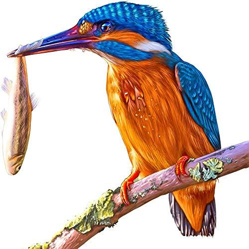 Navidad 5D DIY diamante pintura completos Kits Martín pescador de árbol animal para adultos y niños Arte de diamante redondo perfecto para la relajación decoración de la pared del hogar 50x50cm A1088