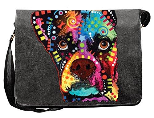 Hunde Motiv Umhängetasche für Hundehalter mit Hunde Tasche Canvas Boxer Cubism Hund Hundebesitzer Hundehalter Dog Hunde Artikel Dogs Hundefreund