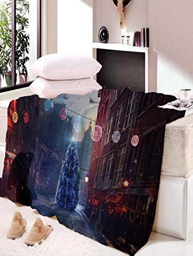 Manta, Batamanta, Mantas Navideñas, Manta Navideña, Decoración De La Sala De Estar del Dormitorio Familiar, Cálida Y Suave W150×L200CM