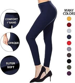 High Waisted Leggings for Women - Super Soft Opaque Slim Warm Leggings - Reg & Plus Size