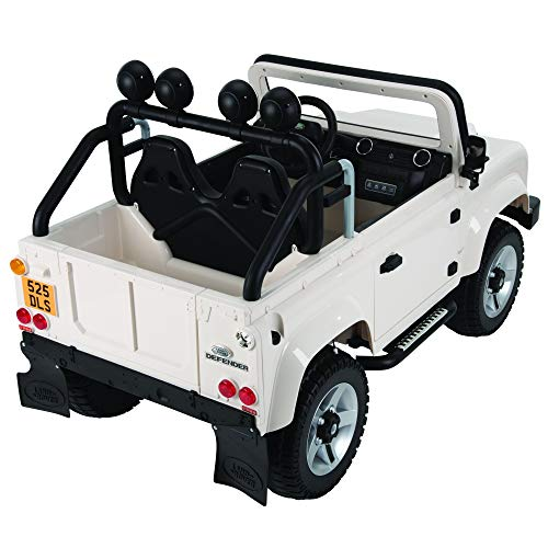 Huffy Kid Electric Ride On 12V Land Rover SUV White, Two Seater, Crisp White (17   489P)