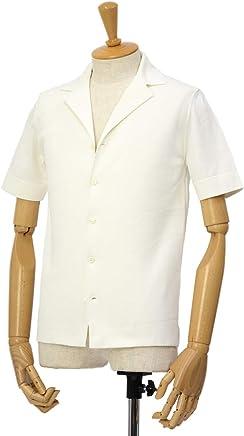 [LARDINI【ラルディーニ】]ミラノリブ開襟シャツ JPLCMC01/EG52019/100 コットン ホワイト