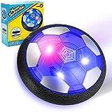 EXTSUD Balón Fútbol Flotante, Pelota de Air Fútbol con Protectores de Espuma Suave y Luces LED, Juguete Deportivo para Niños de 3-12 Años