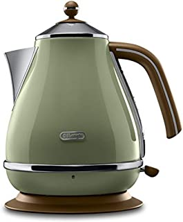De'Longhi 40031358 - Tetera eléctrica, 2000 W, 1.7 L, acero inoxidable, verde