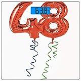 Digitale Präzisionswaage für das Körpergewicht Platz 48. Geburtstagsdekorationen Ultra dünne...