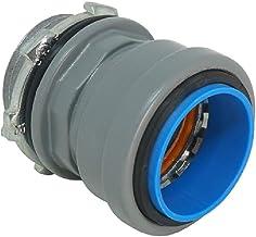 "Southwire EW-BC-050 1/2"" Push Install EMT Watertight Box Connector, Gray"