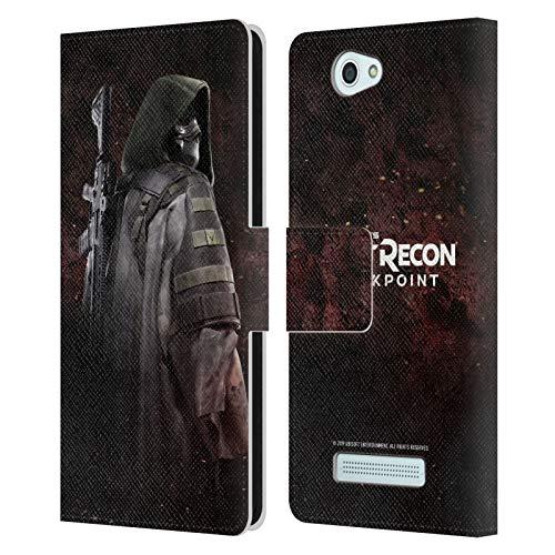 Head Case Designs Offizielle Tom Clancy's Ghost Recon Breakpoint Oberst Walker Darsteller Kunst Leder Brieftaschen Huelle kompatibel mit Wileyfox Spark/Plus