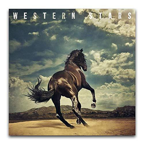 BAIWANO Bruce Springsteen (Western Stars) – Poster rétro pop chanteur poster art moderne décoration murale pour hiphop, gym