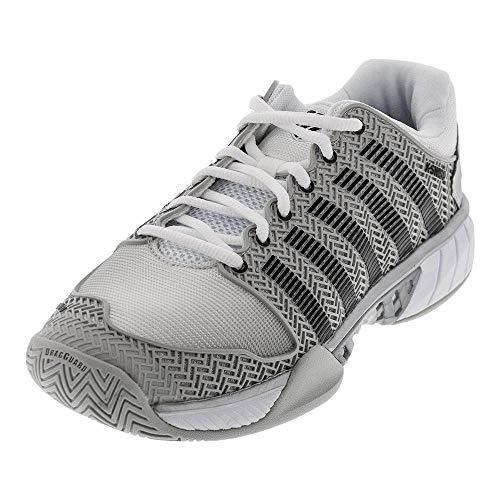 K-Swiss Men's Hypercourt Express Tennis Shoe (Glacier Gray/White/Silver, 10.5)