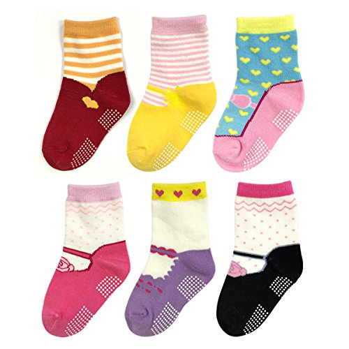 Allydrew On the Run Mary Jane and Sneaker Shoe Socks (Set of 6), MJ01