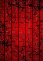 igsticker ポスター ウォールステッカー シール式ステッカー 飾り 841×1189㎜ A0 写真 フォト 壁 インテリア おしゃれ 剥がせる wall sticker poster 008497 クール 赤 レッド 黒 ブラック レンガ