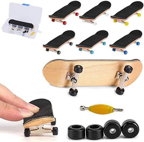 QNFY Finger Skateboard, Mini Fingerboards DIY Assemble Mini Skateboards Finger Skate Boarding Skatepark Spielzeug für Kinder Geburtstag (Schwarz)