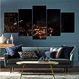 mmkow Imprimir imágenes enmarcadas, 5 piezas de videojuego Metro 2033 Redux Salón dormitorio decoración regalo 100x200cm (Enmarcado)