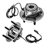 Front Wheel Hub and Bearing Assembly Left or Right Compatible 2009-2010 Dodge Ram 1500 2011 Ram 1500 AUQDD 515126 x2 (Pair) [ 5 Lug W/ABS ]