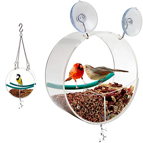 Birdious Window Bird Feeder with Suction Cups and Chains