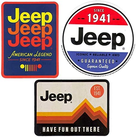 3 Pack Jeep Logo Stickers American Legend Since 1941 Have Fun Out There Guaranteed Since 1941 product image