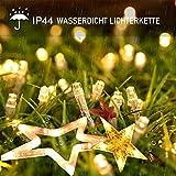 12 Sterne Lichterkette,138LED warmweiss Lichtervorhang weihnachtslichter Sternenvorhang 8 Modi mit Fernbedienung Innen Außen Sterne Vorhang Lichter Für Weihnachten,Party,Hochzeit,Garten, Balkon, Deko - 4