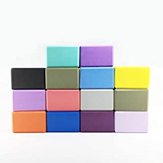 13 Colors available Yoga Blocks EVA High Density 4 * 6 * 9Inch Gym Equipment Exercise Brick Improving Strength & Deepen Poses