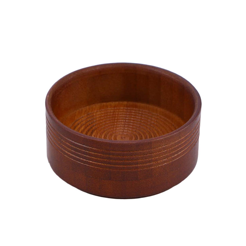 Healifty 丈夫なシェービングソープボウル木製カップ大きなディープサイズシェービングマグ容器