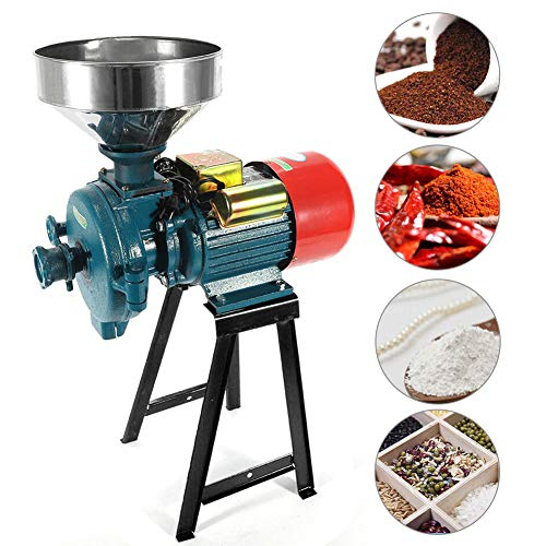 ABORON 3000W Electric Mill Grinder Heavy Duty Commercial Electric Feed Mill Dry Grinder 110V Cereals Corn Grain Coffee Wheat Feed Machine With Funnel (3000W)