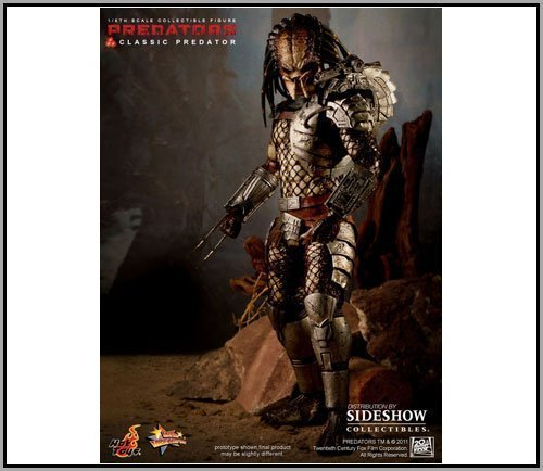 "Sideshow Hot Toys Movie Masterpiece Predator Classic Predator 12"" Figure"