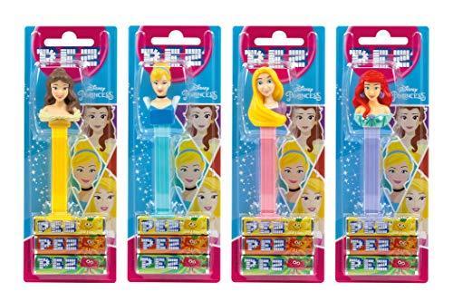 PEZ Spender Set Princess (4 Spender mit je 3 PEZ Bonbons á 8,5g) + 2 Nachfüllpacks (8 PEZ Bonbons á 8,5g)