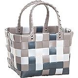 Witzgall - IICE-Bag Mini Korbtasche - 5008-09-0 - grau/weiß/braun