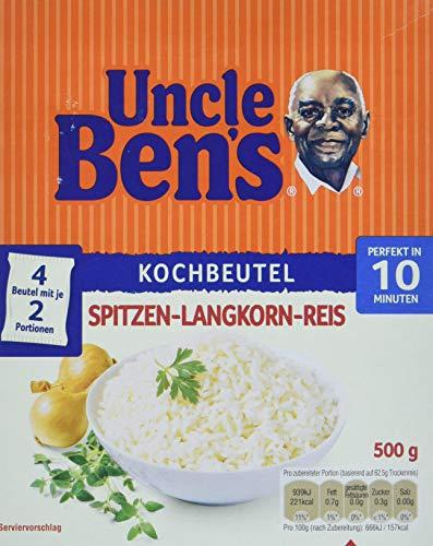 Uncle Ben's Spitzen-Langkorn-Reis 10-Minuten Kochbeutel (500 g Karton)