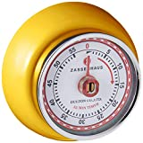 Zassenhaus 60 Minute Magnetic Retro Kitchen, Classic Mechanical Cooking Timer (Yellow), 2.75-Inch