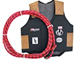 M & F Western Boys' Bull Rider Play Vest 2-10 Years (Large, Red)