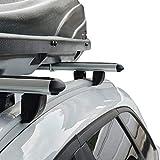 accessorypart Para Ford Mondeo SW MK IV 2007-2014 Barras de techo Aluminio Gris