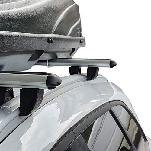 accessorypart Para Ford Kuga 2008-2013 Barras de techo Aluminio Gris