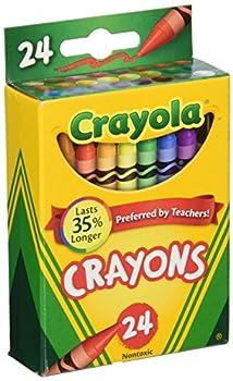 Crayola Box of Crayons Non-Toxic Color Coloring School Supplies 24 Count 3 Pack  52-0024-3