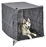 New World Double Door Dog Crate Kit | Dog Crate Kit Includes One Two-Door Dog Crate, Matching Gray Dog Bed & Gray Dog Crate Cover, 42-Inch Kit Ideal for Large Dog Breeds
