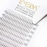 Premade Fans Eyelash Extensions 3D Mix Tray 9-15mm C D Curl 0.10mm Premade Volume Eyelash Extensions Long Stem Hand Made Pre Made Fanned Volume Lash Extensions by EMEDA (0.10 C 9-15 Mixed)