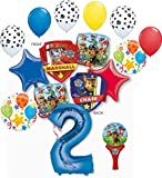Paw Patrol Party Supplies Chase, Marshal and friends 2nd Birthday Balloon Bouquet Decorations