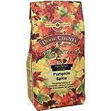 Door County Coffee, Fall Seasonal Flavored Coffee, Pumpkin Spice Decaf, Cinnamon & Nutmeg Flavored Coffee, Medium Roast, Ground Coffee, 8 oz Bag