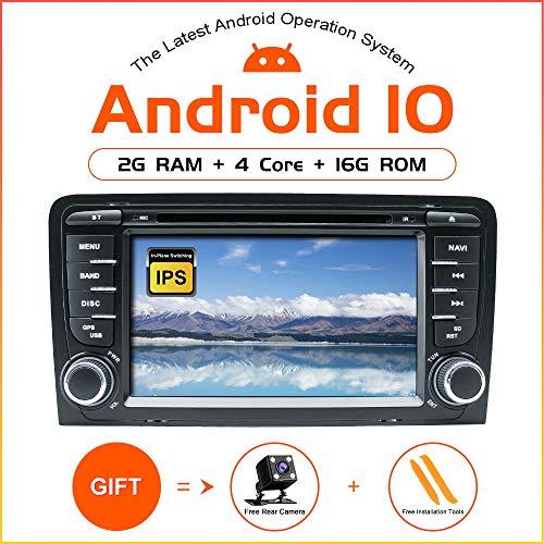 DVD-speler voor autoradio Android 10 voor Audi A3 S3 RS3 autoradio GPS navigatie audio 7 inch IPS touch display multimediaspeler dubbele eenheid DIN Head houder DSP spiegel WiFi SWC