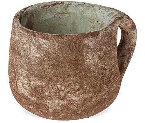 matches21 Pflanztopf Pflanzgefäß Tasse Keramik Rostoptik Antikoptik Keramiktopf Tassenform Blumentopf 16 cm - 2 Größen