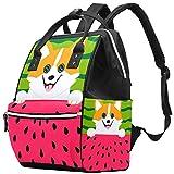 Wickeltasche, Vintage-Blumen, große Kapazität, Handtasche, Schulterrucksack, Wickeltasche für Babypflege