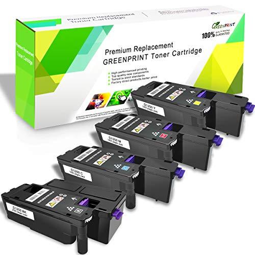 Cartuchos de Tóner Compatibles con 4 Colores para DELL C1760nw C1765nf C1765nfw 1250c 1350cnw 1355cn 1355cnw Impresoras GREENPRINT 2000 páginas para Negro, 1400 páginas para Amarillo Cian Magenta