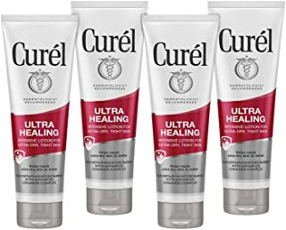 Curél Skincare Ultra Healing Intensive Moisturizer, 2.5 Ounce Body Lotion, 4-pack, with Advanced Ceramide Complex and Extr...